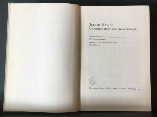 Joseph Haydn. Gesammelte Briefe und Aufzeichnungen