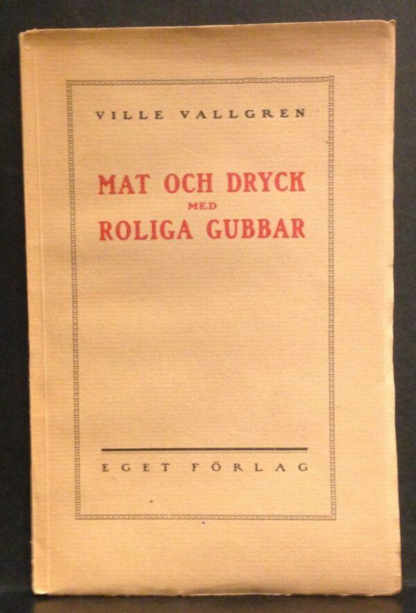 Ville Vallgren Mat och dryck med roliga gubbar