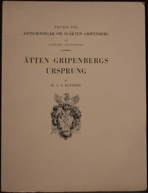 Ätten Gripenbergs ursprung
