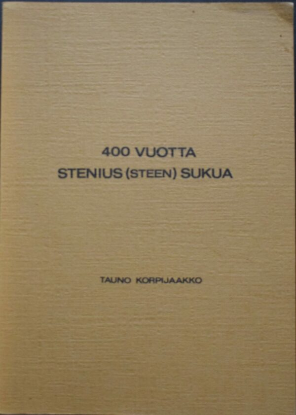 400 vuotta Stenius (Steen) sukua