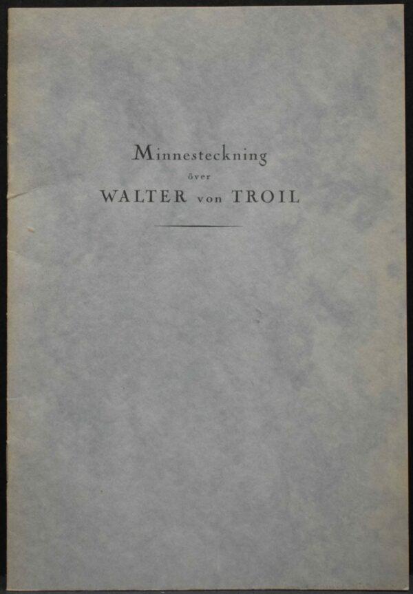 Minnesteckning över Walter von Troil