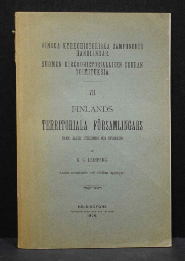 Finlands territoriala församlingars namn