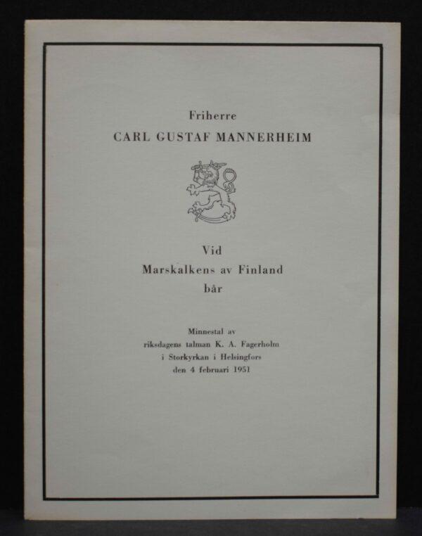 Friherre Carl Gustaf Mannerheim