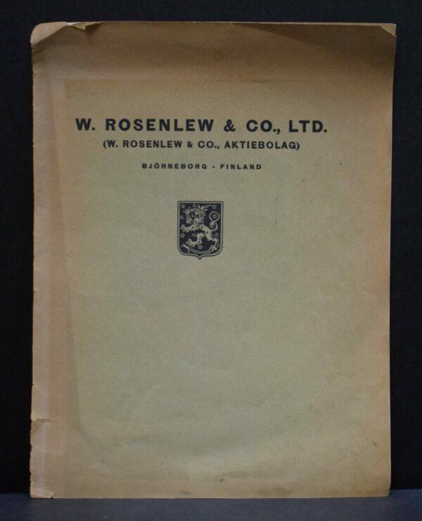 W. Rosenlew & Co., Ltd.