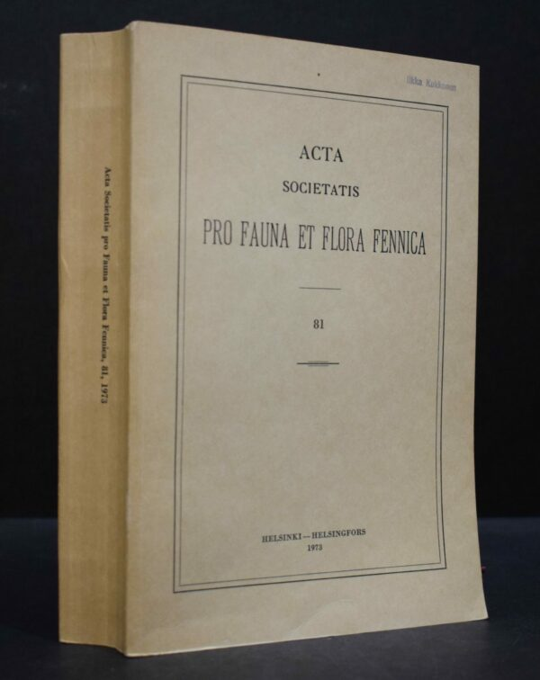 Bibliographia Botanica Fenniae 1901-1950