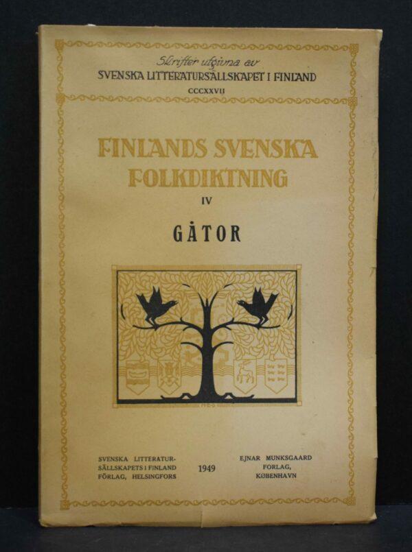 Finlands svenska folkdiktning IV - Gåtor