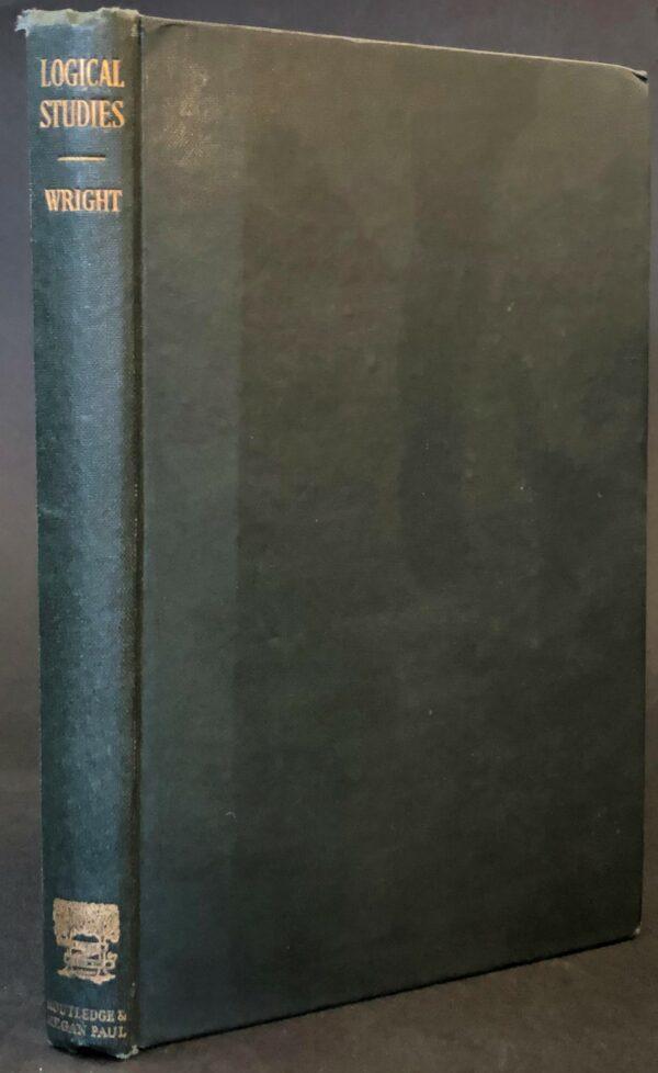 Georg Henrik von Wright Logical Studies