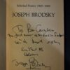 Joseph Brodsky dedication