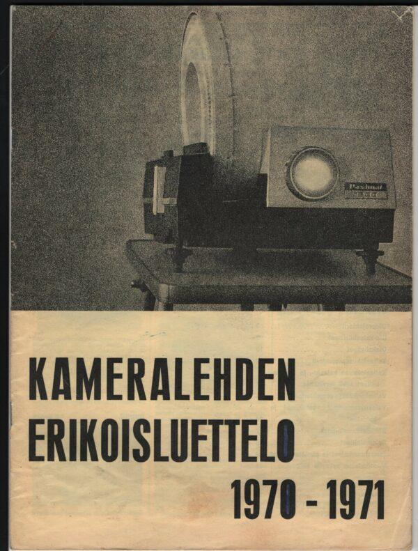 Kameralehden erikoisluettelo 1970-1971