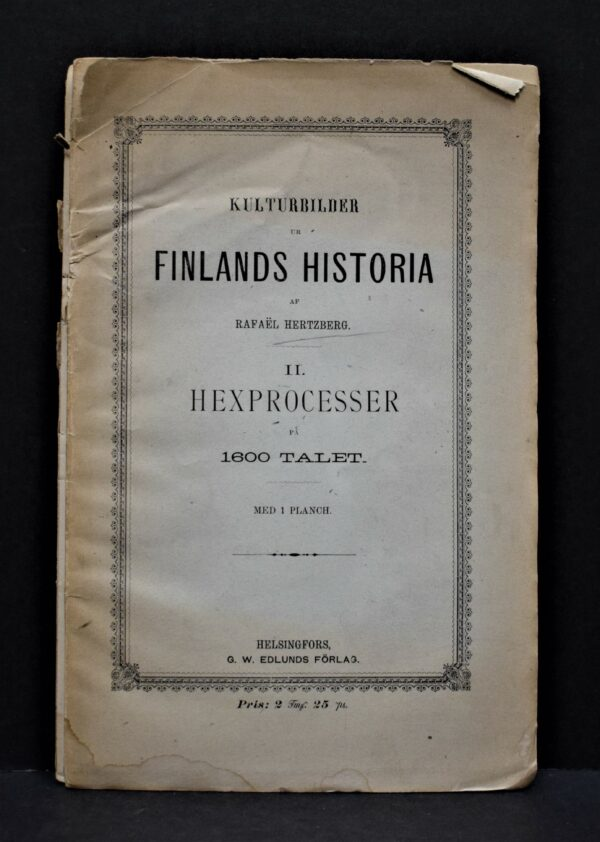 Kulturbilder ur Finlands historia II. hexprocesser på 1600 talet