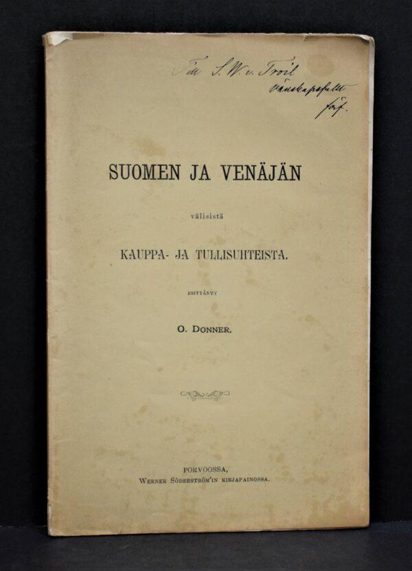 Suomen ja Venäjän välisistä kauppa- ja tullisuhteista