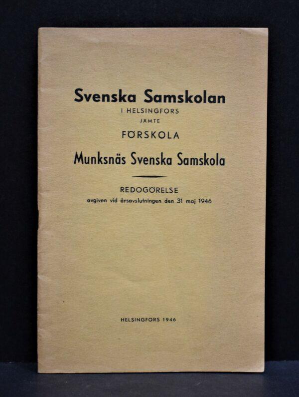 Svenska samskolan i Helsingfors - Munksnäs svenska samskola